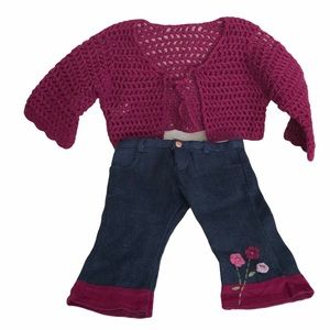 American Girl doll Flower power 2 piece outfit